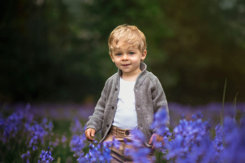 Bluebells mini sessions in Dorset