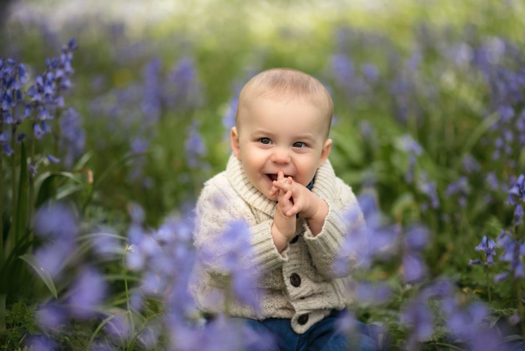 Outdoor baby photographer in Bournemouth and Poole. On location and in studio