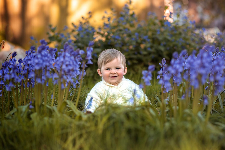 Outdoor baby photography in Dorset